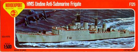 Лепесток NOVO Toys Ltd F126 Cat.No.76029 HMS Undine Anti-Submarine Frigate (реконструкция)